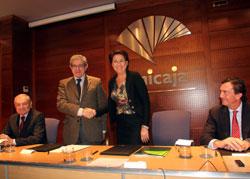 firma acuerdo entre Unicaja y BEI