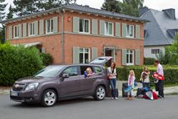 Familia de vacaciones Chevrolet